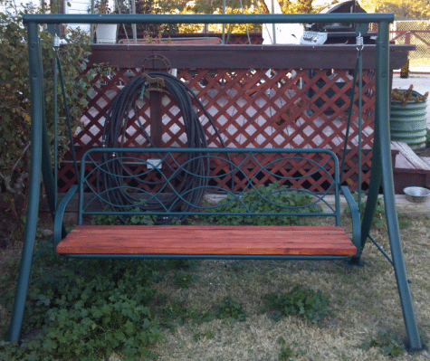 Recycle Old Patio Swing Chair Into New Wooden One