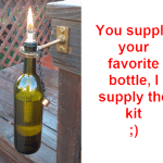 Free Wine Bottle Tiki Torch Kit Giveaway!