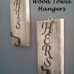 DIY His & Hers Pallet Wood Rustic Towel / Coat Hangers!