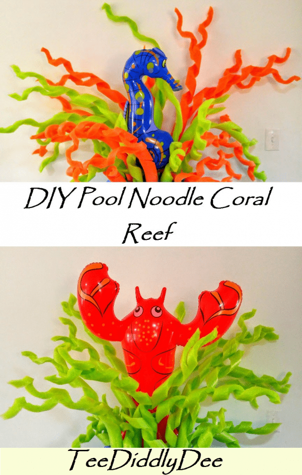 Diy Pool Noodle Coral Reef Seaweed Party Under The Sea