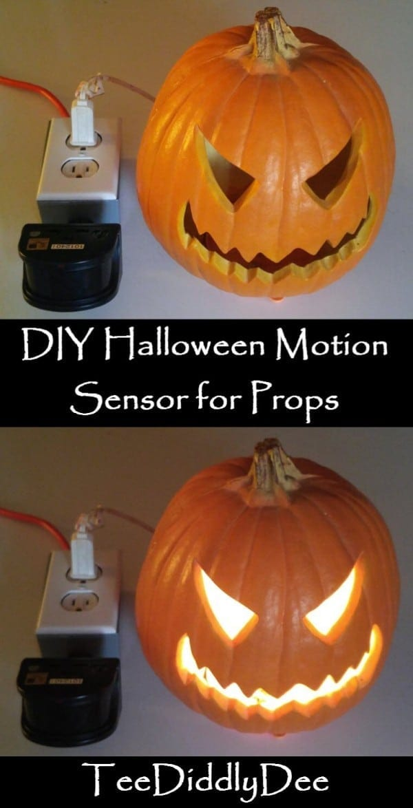 diy halloween motion sensor for props teediddlydee