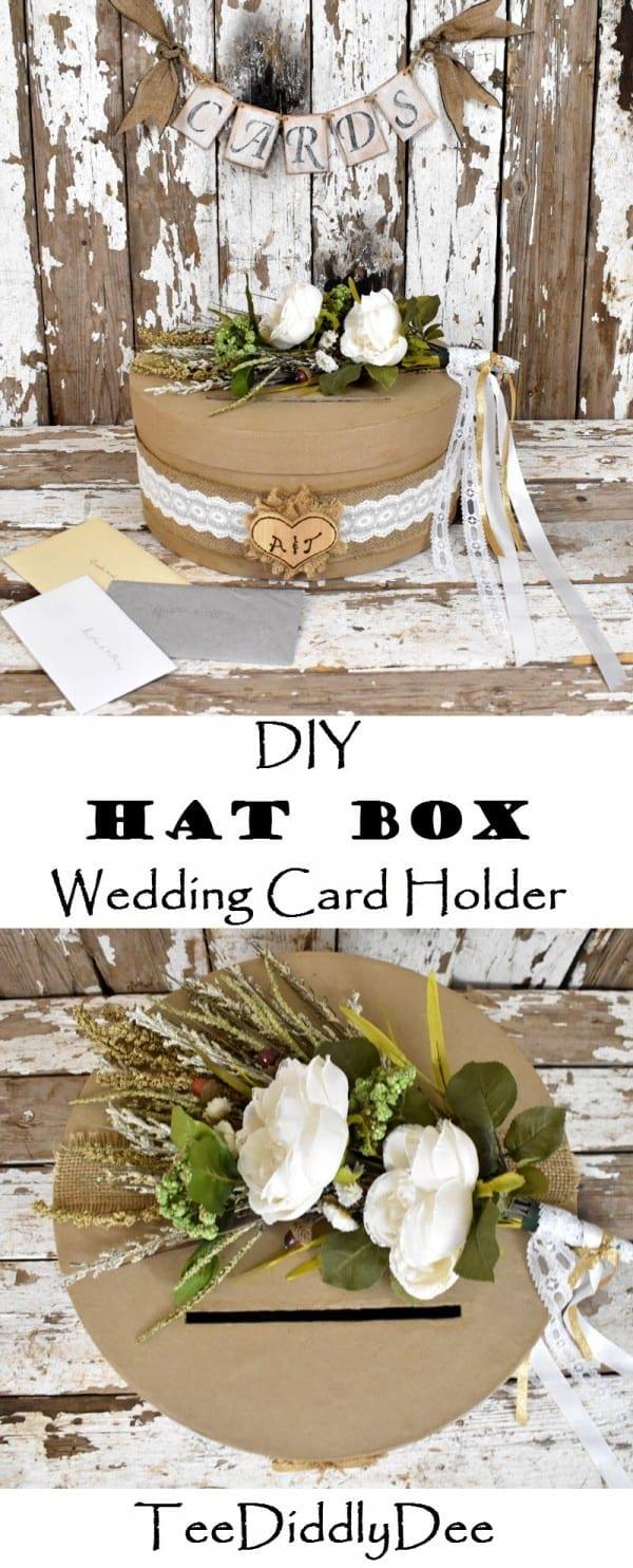 Wedding Card Holder.Diy Rustic Hat Box Wedding Card Holder Country Rustic